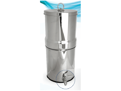 Pure Stainless Steel Gravity Filter stocked by Aqua One Australia, Morningside Brisbane