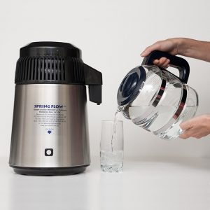 Spring Flow Water Distiller with Glass Jug 100% pure water no matter where the water is supplied from available at Aqua One Australia