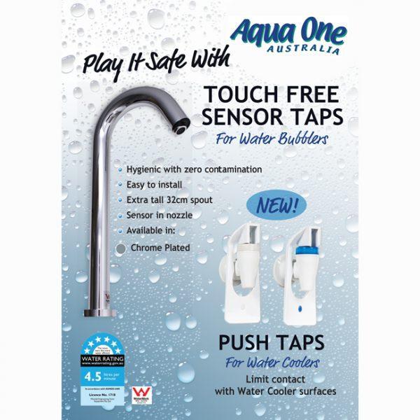 Touch Free Sensor Tap available in Chrome, Matt Black and Gold at Aqua One Australia, Brisbane